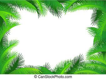 foglia palma, bordo
