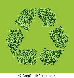 foglia, riciclare, verde