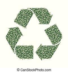 foglia, riciclare