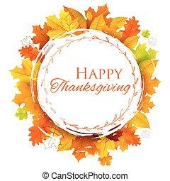 foglia, ringraziamento, fondo, felice, acero, celebrazione