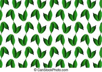 foglia verde, castagna, bianco, fondo