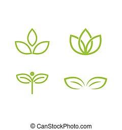 foglia verde, logotipo