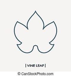 Foglia acino uva icona foglia illustrazione fondo - Foglia canadese contorno foglia canadese ...