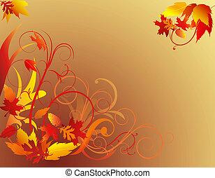 fogliame autunno, fondo