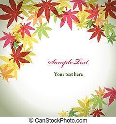 fogliame, fondo, autunno