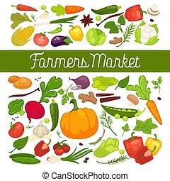 fogliame, pieno, organico, vitamina, sano, verdura, fattoria, prodotti, annuncio pubblicitario, fresco, vegetariano