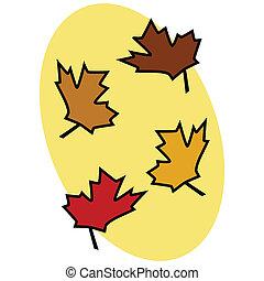 foglie, 2, cadere