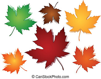 foglie acero, cadere, seamless, modello