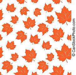 foglie acero, seamless, fondo, autunnale