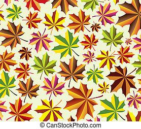 foglie, acero, vettore