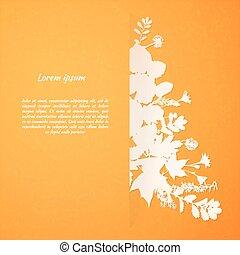 foglie, acquarello, dipinto