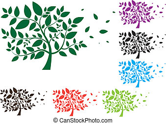 foglie, albero