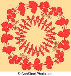 foglie, background-01, giallo, rosso