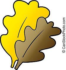 foglie, cartone animato, cadere