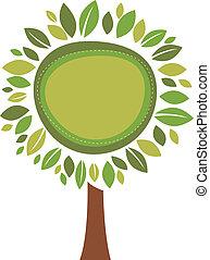 foglie, cornice, verde
