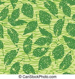 foglie, fondo, seamless