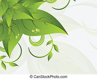 foglie, fondo