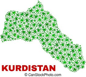foglie, kurdistan, canapa, mosaico, mappa