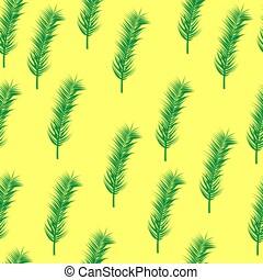 foglie, palma, fondo, giallo