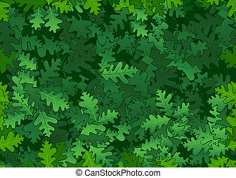 foglie, quercia, seamless, struttura