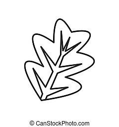 foglie, ramo, icona
