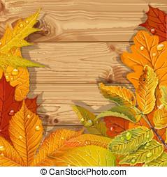 foglie, rosso, autunno, giallo