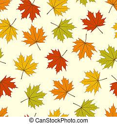 foglie, seamless, acero