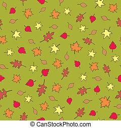 foglie, seamless, cadere