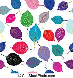 foglie, seamless, colorato