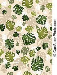 foglie, seamless, philodendron