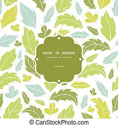 foglie, silhouette, cornice, seamless, modello, fondo