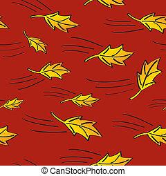 foglie, soffiando, seamless, cadere