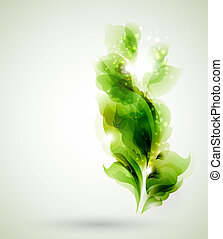 foglie, verde