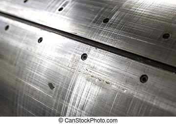 foglio, astratto, metallo, fondo, textured