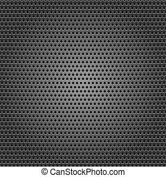 foglio, cromo, metallo, seamless, fondo, perforato, superficie