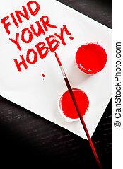 foglio, dipinto, testo, trovare, carta, hobby, bianco, tuo, rosso