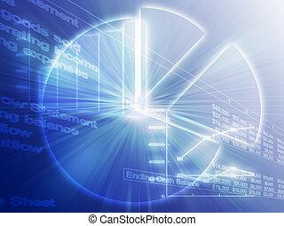 foglio elettronico, affari, tabelle, illustrazione
