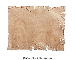 foglio, vendemmia, isolato, carta, vuoto, bianco