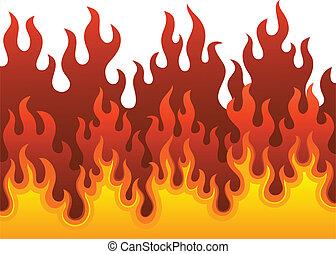 fogo, 1, imagem, tema