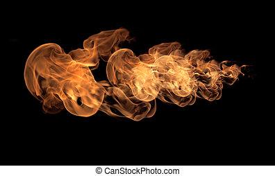 fogo, abstratos, chamas