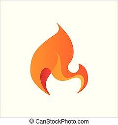 fogo, abstratos, stylized, desenho, chama, elemento, ícone