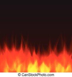 fogo, abstratos, vetorial, fundo