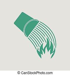 fogo, balde, ícone
