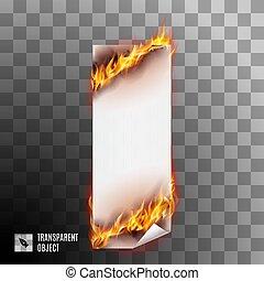 fogo, bandeiras