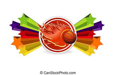 fogo, basquetebol, desporto, bola, sinal
