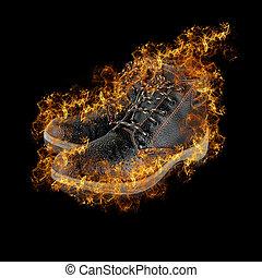 fogo, botas