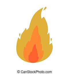 fogo, chama, ícone