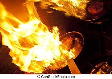 fogo, cozinhar
