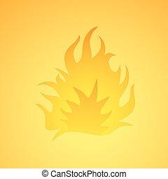 fogo, desenho, ilustração