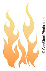 fogo, elementos, vetorial